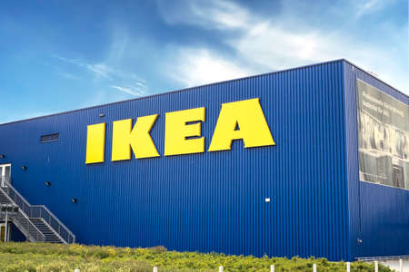 Augsburg / GERMANY : IKEA branch on a warehouse in Augsburg. IKEA is a Swedish-founded multinational group that designs and sells ready-to-assemble furniture, kitchen and accessories