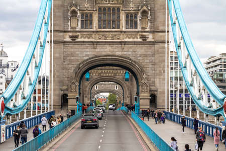 View of the famous Tower Bridge is London, England