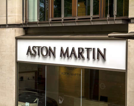 London, United Kingdom : Aston Martin Car Dealership on Park lane