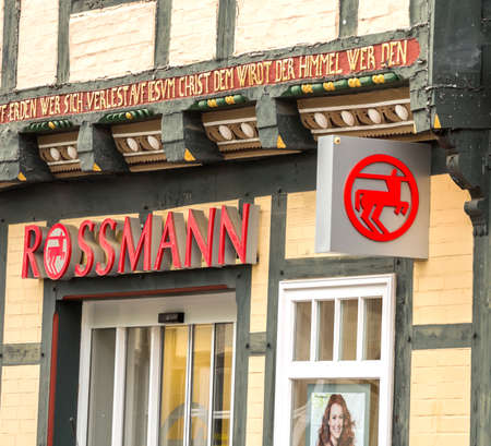 Celle, Germany : Founded in 1972 Dirk Rossmann GmbH commonly known as Rossmann Drogeria Parfumeria Cosmetic Shop is the second largest drugstore chain based in Germany