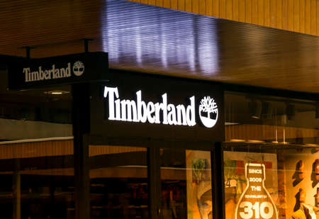 ROTTERDAM, NETHERLANDS - May 9, 2019: Timberland store in Rotterdam. Timberland is an American manufacturer and retailer of outdoors wear founded in 1918 by Nathan Swartz