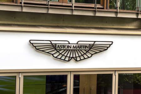 London, United Kingdom : Aston Martin Car Dealership on Park lane