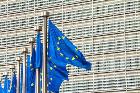 Brussels, BELGIUM : European Commission Headquarters building in Brussels, Belgium, Europe