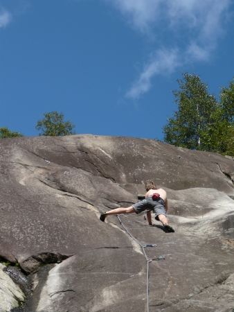 climber on the wall Stock Photo