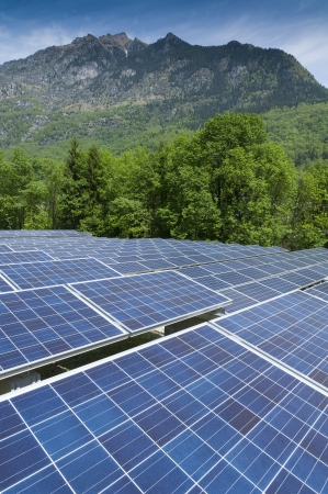 Photovoltaic in the Valley Stock Photo