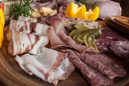 Chopping with typical italian cold cuts Stock Photo - 16255523