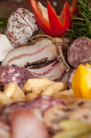 Chopping with typical italian cold cuts Stock Photo - 16255522