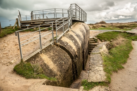 Remains of a German bunker at Pointe du Hoc Editorial