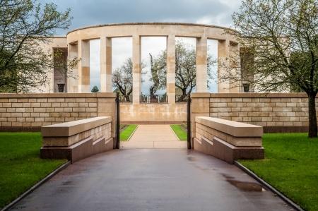 Memorial to the fallen Americans in Normandy in World War II Editorial