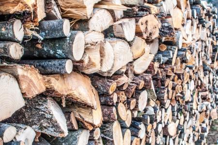 poele bois: Pile de bois pour po�le � bois ou un foyer