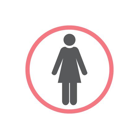 Women icon, isolated. Flat design.