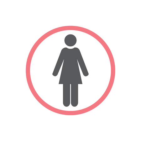 Women icon, isolated. Flat design.