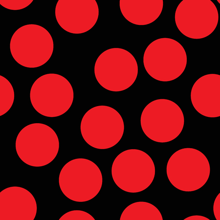 Large red circle pattern on black background Illustration