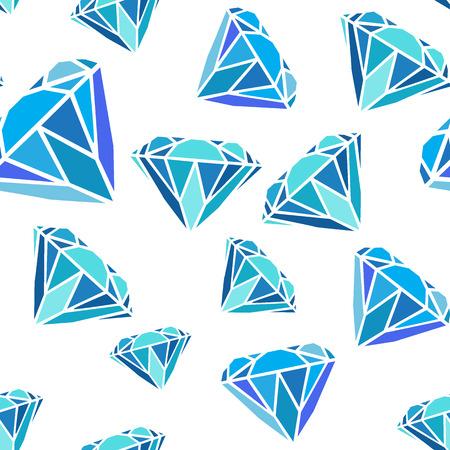 Blue diamonds seamless pattern. 矢量图像