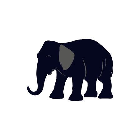 Cartoon illustration of elephant vector icon for web Standard-Bild - 98876350