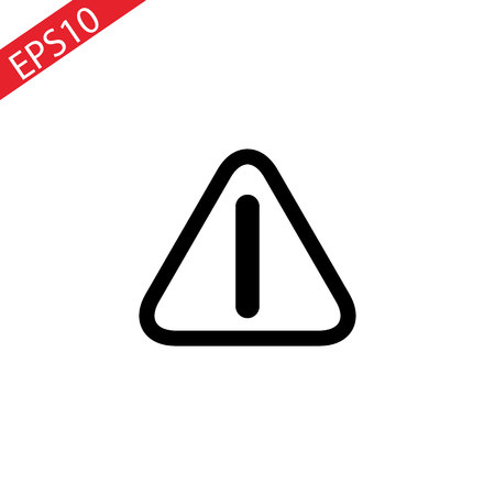 caution danger exclamation mark sign vector icon for industries packages websites etc Illustration