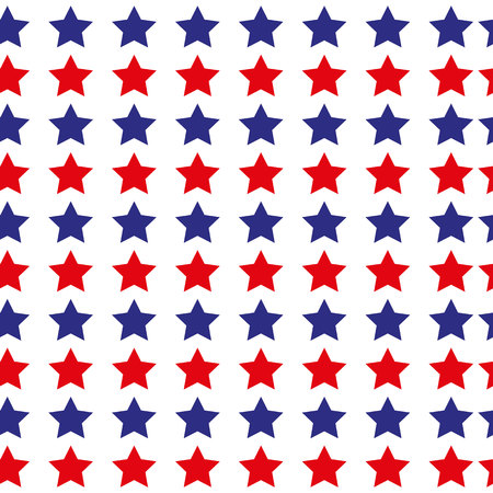Patriotic USA seamless pattern. Vector wallpaper background. White, red, blue colors. 4th july memorial american independence day. Star diagonal shape. America wrapping national pattern. Navy ornament