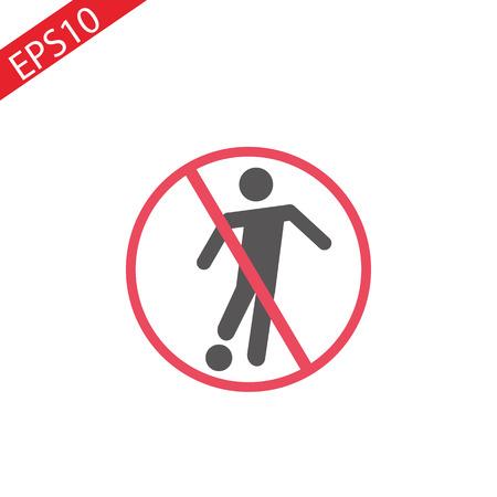 No play or football sign.