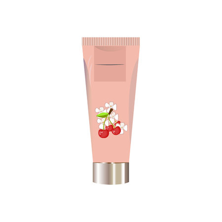 Blank cosmetic package container for cream, powder or gel Illustration