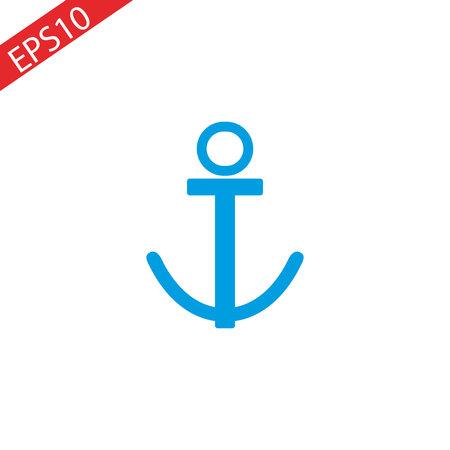 Anchor icon design white background.