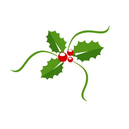 Holly berry icon, Christmas symbol. Illustration