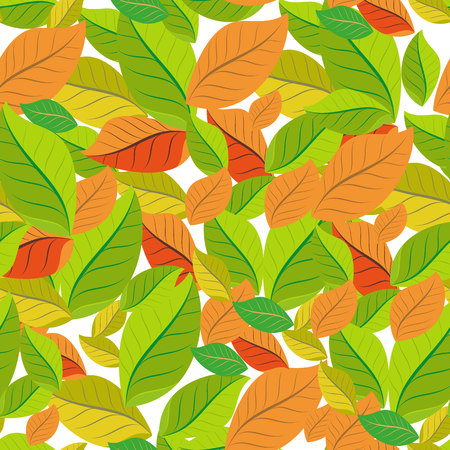 Seamless pattern with colorful autumn leaves. Vector illustration.eps 10
