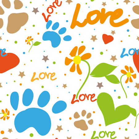 Romantic love cute doodle seamless pattern. eps 10 Stock Vector - 127384358
