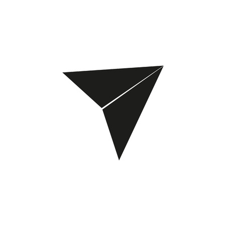 Send symbol, paper airplane icon vector white background. eps 10