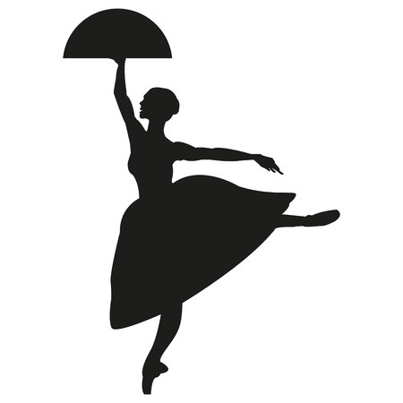 Silhouette of a dancing ballerina. Isolated background, white .sketch , vector grace . Banque d'images - 121631891