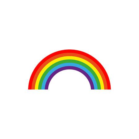 Rainbow icon flat. minority concept icon. concept image.