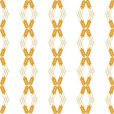 Vector seamless pattern illustration ears of wheat. Malt beer background. Autumn harvest. eps 10.
