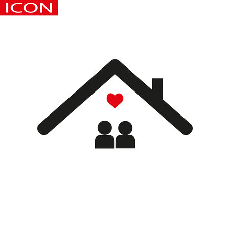 Family at house icon. Vector isolated illustration.eps 10