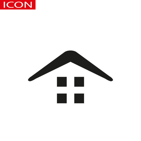 Small house. Icon Vector. Simple flat symbol. Illustration pictogram eps 10