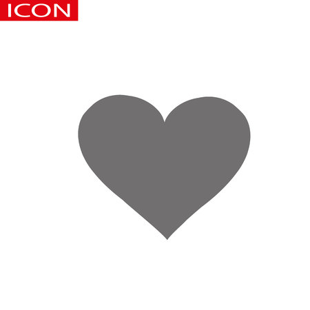 Heart Icon Vector. Perfect Love symbol. Valentine s Day sign, emblem isolated on white background with shadow, Flat style for graphic and web design, logo. Ilustração