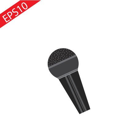 MICROPHONE vector icon. ilustrtion eps 10