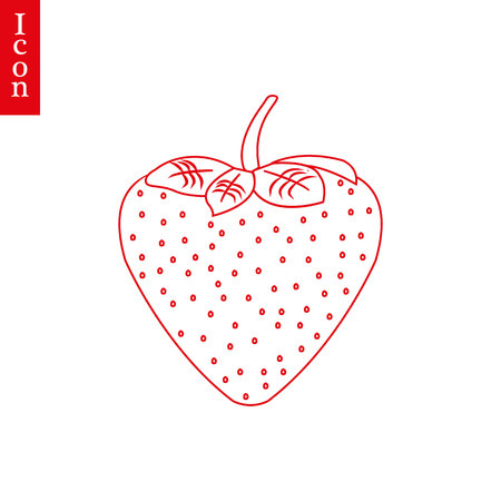 Strawberrie line icon. Vector simple minimalistic berrie symbol. - Vector. eps 10 Illustration