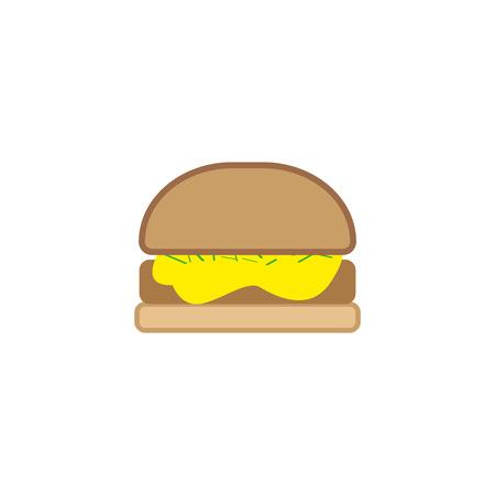 hamburger icon with long shadow. flat style vector illustration. eps 10.