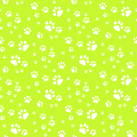 Dog PawPrint Seamless, anilams pattern, vector illustrationEPS 10