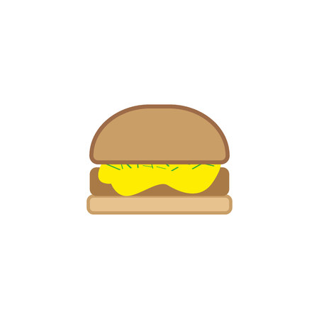 Burger vector illustration write backround.EPS 10 Illustration