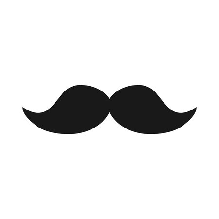 Mustache icon in trendy flat style isolated on white background. mustache icon symbol for your web site design,mustache logo, app, UI. Vector illustration, mustache icon eps10. Logo