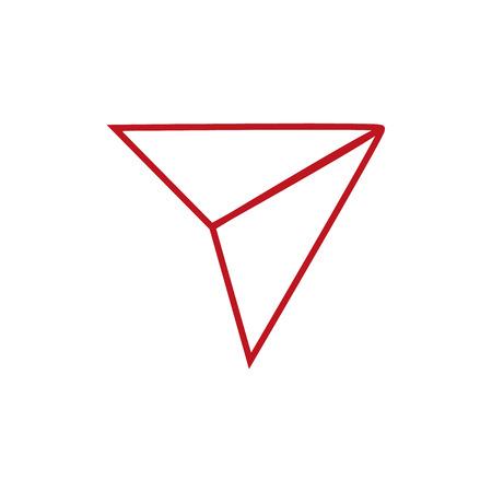 Senden Sie ein minimales einzelnes flaches Vektorsymbol. Flugzeuglinie Vektorsymbol