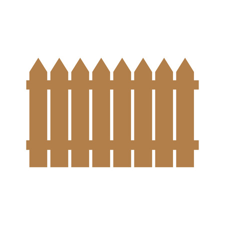 Wooden fence illustration isolated on white background.set icons fence made from vector illustration.eps 10.
