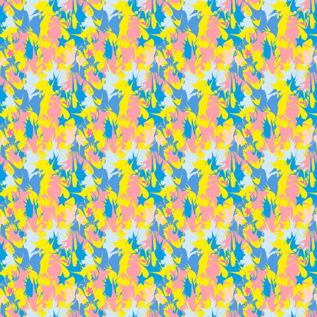 Abstract geometric print. Seamless pattern. colour background Vector.
