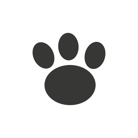 Animal s dog s paw print. Icon. Vector illustration. Illusztráció