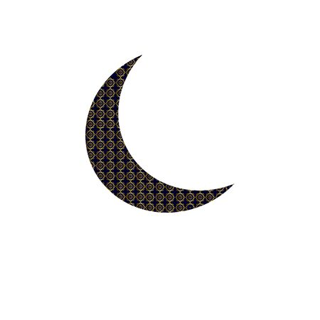 Crescent moon decorated with beautiful flowers on colourful background for Muslim community festival Jashn-E-Eid. 向量圖像