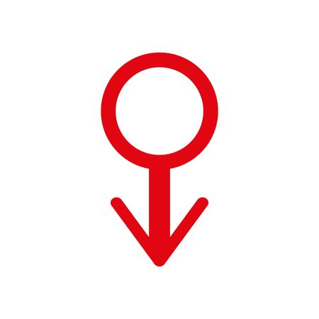 Men s Day. Health care and medicine icon sign. Man symbol. red badge of honor. Gender symbol