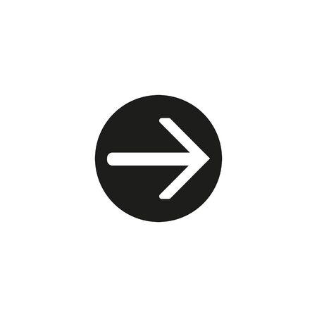 Up arrow vector icon.Button icon white background.