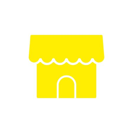 Merchant store, vector icon illustration in line outline style. eps 10.