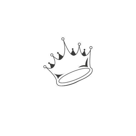 Crown Icon in trendy flat style isolated on grey background. Crown symbol for your web site design, logo, app, UI. Vector illustration. Illusztráció