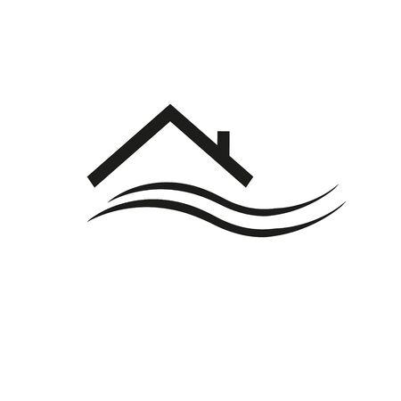Real Estate vector logo design template. House abstract concept icon.